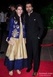 Gowri Pandit and Nikhil Dwivedi during the Arpita Khan-Ayush Sharma's Wedding Reception In Mumbai