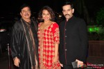Shatrughan Sinha, Sonakshi Sinha and Luv Sinha during the Arpita Khan-Ayush Sharma's Wedding Reception In Mumbai
