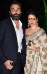 Bobby Deol and Tanya Deol during the Arpita Khan-Ayush Sharma's Wedding Reception In Mumbai