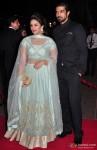 Huma Qureshi and Saqib Saleem during the Arpita Khan-Ayush Sharma's Wedding Reception In Mumbai