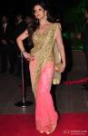 Zarine Khan during the Arpita Khan-Ayush Sharma's Wedding Reception In Mumbai