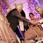 Salma Khan and Salim Khan during the Arpita Khan-Ayush Sharma's Wedding