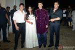 Aamir Khan and Salman Khan during the Arpita Khan-Ayush Sharma's Wedding Reception Pic 2