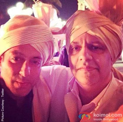 Salman Khan during the Arpita Khan-Ayush Sharma's Wedding