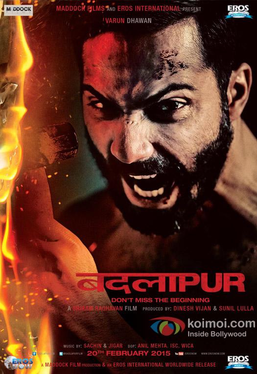 Varun Dhawan in a 'Badlapur' movie poster