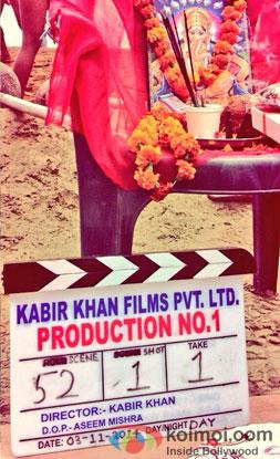 Still from on the sets of movie 'Bajrangi Bhaijan'