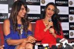 Bipasha Basu and Malaika Arora Khan during 'The Trunk Label' Press Meet Pic 4