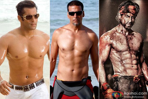Salman Khan, Akshay Kumar and Shah Rukh Khan