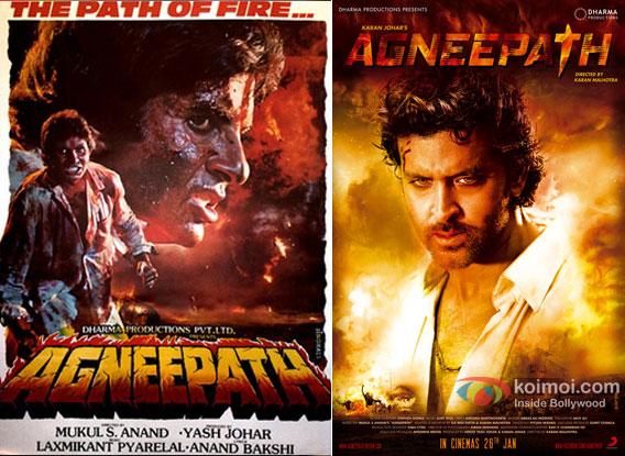Agneepath (1990) and Agneepath (2012) Movie Poster