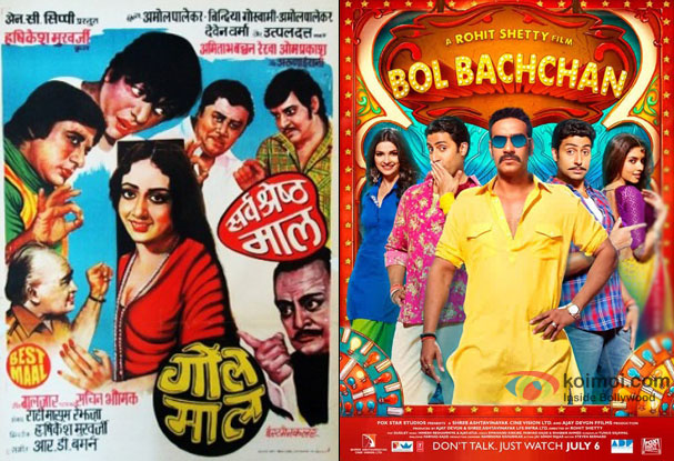 Gol Maal (1979) and Bol Bachchan (2012) Movie Poster
