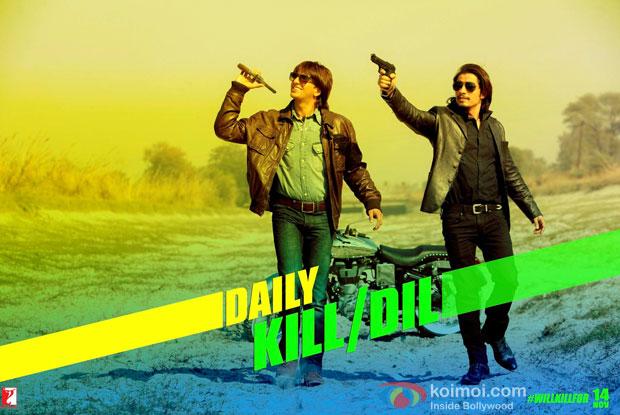 Ranveer Singh and Ali Zafar in a still from movie 'Kill Dil'