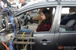 Deepika Padukone and Amitabh Bachchan during the shooting of movie 'Piku' Pic 2