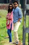 Deepika Padukone and Irrfan Khan on the sets of movie 'Piku' in Kolkata Pic 1