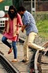 Deepika Padukone and Irrfan Khan on the sets of movie 'Piku' in Kolkata Pic 2