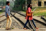 Irrfan Khan and Deepika Padukone on the sets of movie 'Piku' in Kolkata