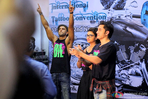 Ranveer Singh, Parineeti Chopra and Ali Zafar at 6th Indian Ink International Tattoo Convention