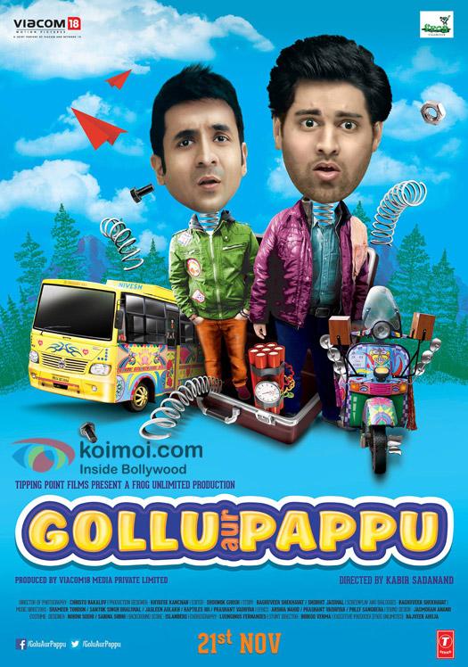 Vir Das And Kunaal Roy Kapoor In A 'Gollu Aur Pappu' Movie Poster