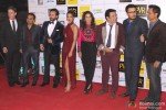Andrew Kneebone, Krishna DK, Saif Ali Khan, Ileana D'Cruz, Krishika Lulla, Govinda, Dinesh Vijan and Raj Nidimoru during the Grand Premiere Of Movie 'Happy Ending'