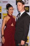 Ileana D'Cruz and Andrew Kneebone during the Grand Premiere Of Movie 'Happy Ending'