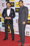 Saif Ali Khan and Dinesh Vijan during the Grand Premiere Of Movie 'Happy Ending'