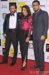 Saif Ali Khan, Krishika Lulla and Dinesh Vijan during the Grand Premiere Of Movie 'Happy Ending'