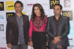 Raj Nidimoru, Krishika Lulla and Krishna DK during the Grand Premiere Of Movie 'Happy Ending'