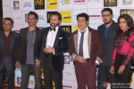 Krishna DK, Raj Nidimoru, Saif Ali Khan, Govinda, Dinesh Vijan and Krishika Lulla during the Grand Premiere Of Movie 'Happy Ending'