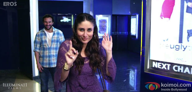 Saif Ali Khan and Kareena Kapoor Khan in a 'Happy Song' still from movie 'Happy Ending'