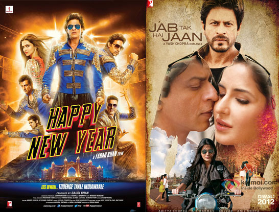 'Happy New Year' and 'Jab Tak Hai Jaan' Movie Posters