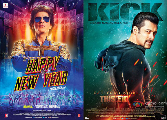 Happy New Year and Kick Movie Poster