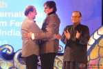 Rajinikanth and Amitabh Bachchan during the Inauguration Ceremony Of IFFI 2014 Pic 1