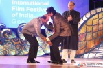 Rajinikanth and Amitabh Bachchan during the Inauguration Ceremony Of IFFI 2014 Pic 2