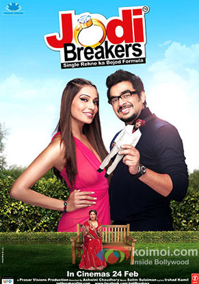 Bipasha Basu and R. Madhavan in a 'Jodi Breakers' movie poster