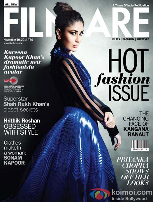 Kareena Kapoor on a Filmfare cover