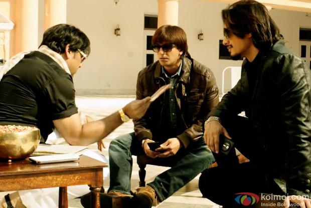 Govinda, Ranveer Singh and Ali Zafar in a still from movie 'Kill Dil'