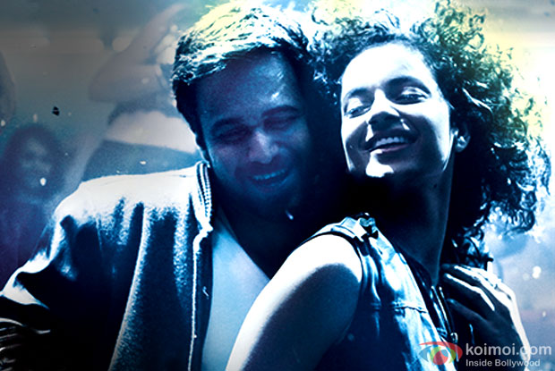 Emraan Hashmi and Kangana Ranaut in a still from movie 'Ungli'