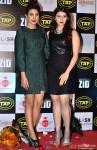 Priyanka Chopra with Mannara During The Music Launch Of Movie 'Zid'