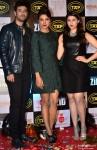 Karanvir Sharma, Priyanka Chopra and Mannara During The Music Launch Of Movie 'Zid'