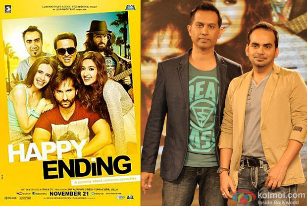 Raj & D.K  and 'Happy Ending' movie poster