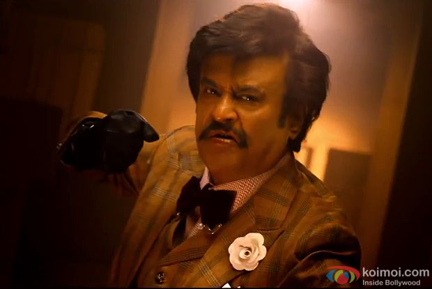 Rajinikanth in a still from movie 'Lingaa'