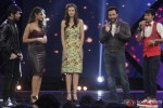 Himesh Reshammiya, Ileana D'Cruz, Kalki Koechlin and Saif Ali Khan during the promotion of movie 'Happy Ending' on the sets of 'India's Raw Star'