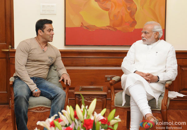 Salman Khan Meets Narendra Modi In Delhi