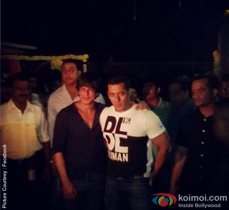 Shah Rukh Khan and Salman Khan at Arpita's Sangeet Ceremony