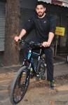 Sidharth Malhotra Cycles At Equal Street's, Bandra Pic 1