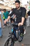 Sidharth Malhotra Cycles At Equal Street's, Bandra Pic 2