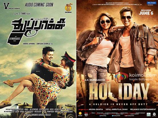 Thuppakki and Holiday Movie Poster