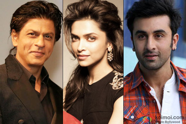 Shah Rukh Khan, Deepika Padukone and Ranbir Kapoor