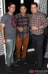 Ajay Kapoor, Bhushan Kumar and Vinod Bhanushali during the Divya Khosla Kumar's Birthday Bash
