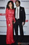 Neerja Birla and Kumar Mangalam Birla during the Hello! Hall of Fame Awards
