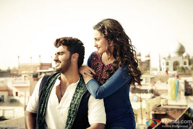 Arjun Kapoor and Sonakshi sinha in a still from movie 'Tevar'